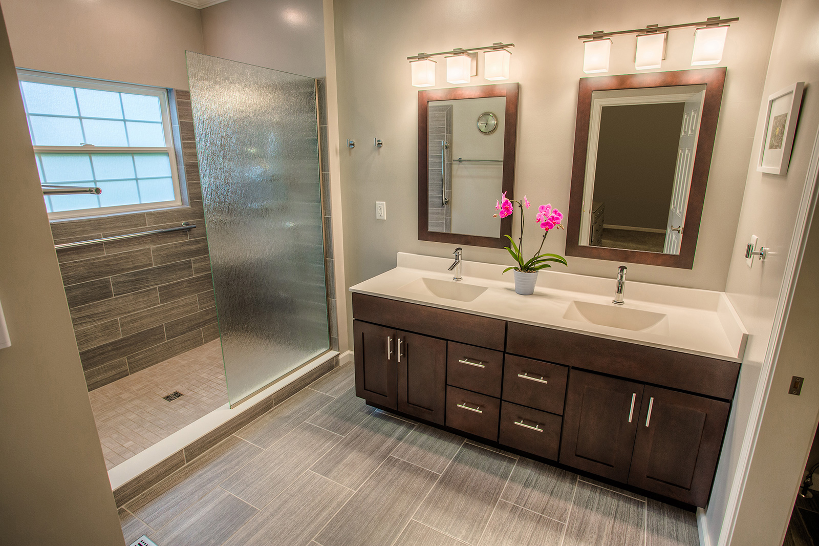 West Lafayette Contemporary Master Bathroom Remodel Riverside - Bathroom remodel schedule